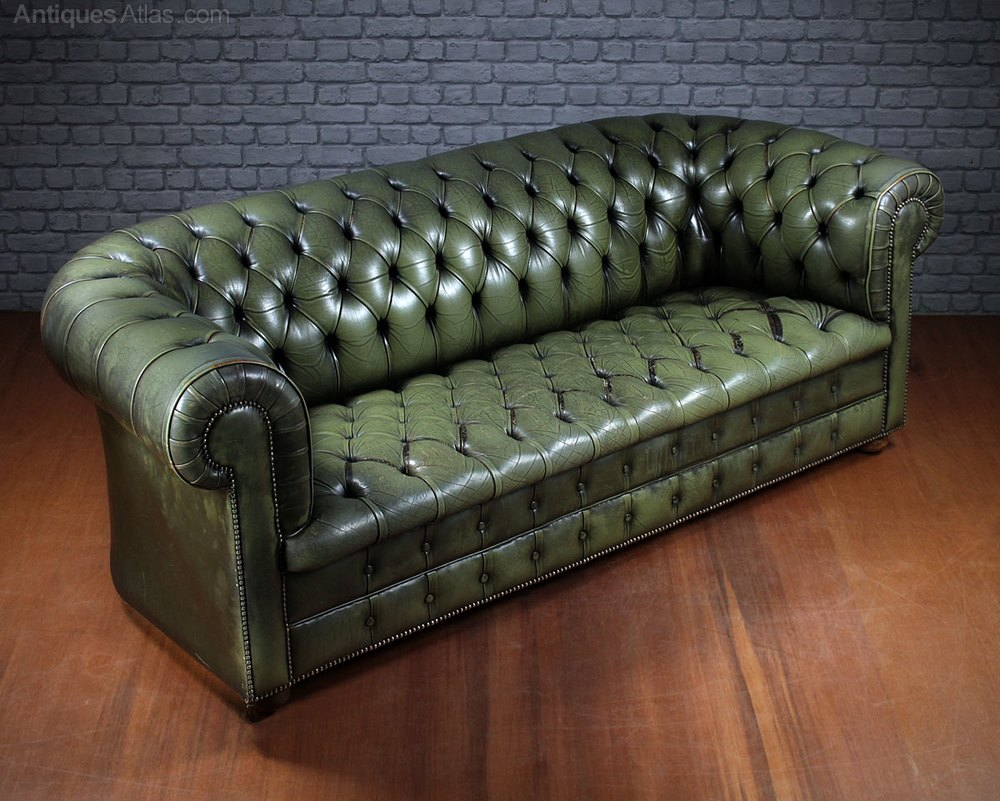 Antiques Atlas Vintage Leather Chesterfield Sofa