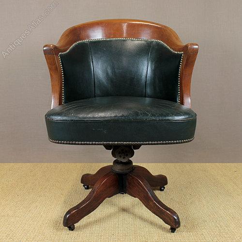 Vintage Leather Desk Chair Antiques Atlas