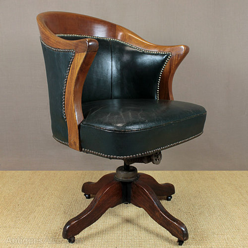 Awesome Vintage Leather Desk Chair.