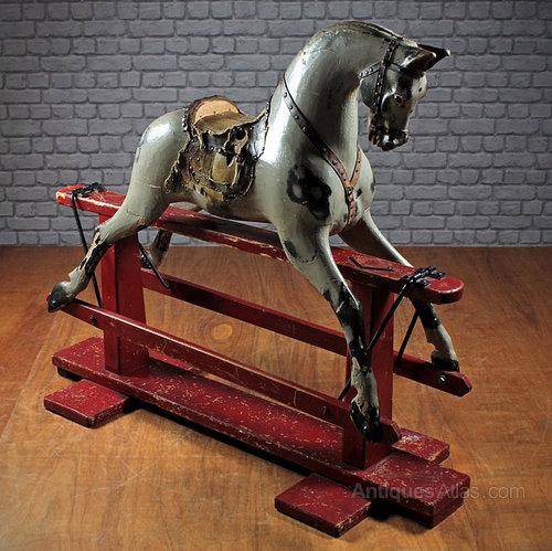 Antiques atlas vintage rocking horse for Vintage horseshoes for sale
