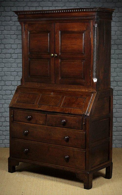 Welsh Oak Bureau Cabinet C 1790 Antiques Atlas