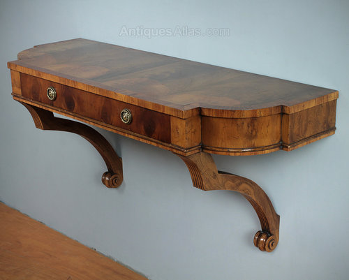 Antiques atlas yew wood wall mounted console table
