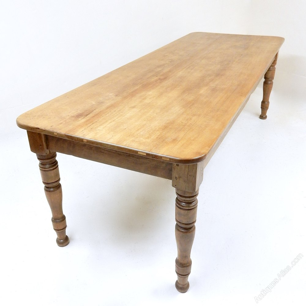 10 Seat Farmhouse Table Antiques Atlas