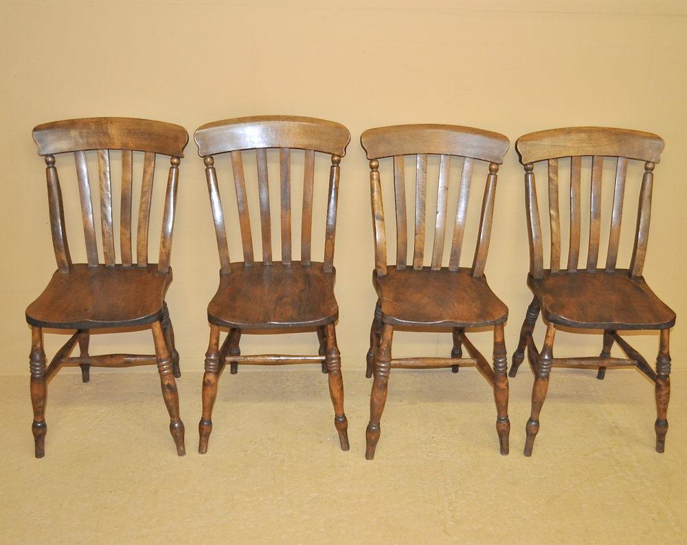 4 slatback kitchen chairs r3492 antiques atlas
