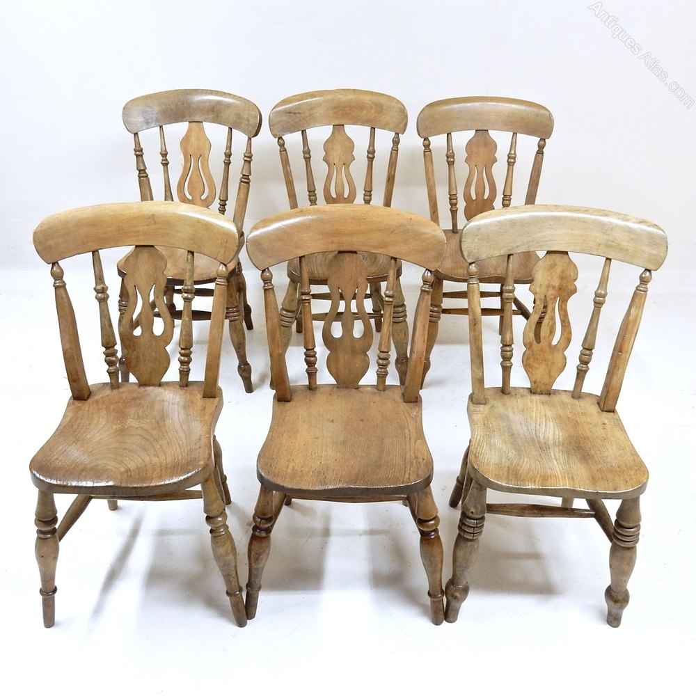 6 Windsor Dining Kitchen Chairs Antiques Atlas
