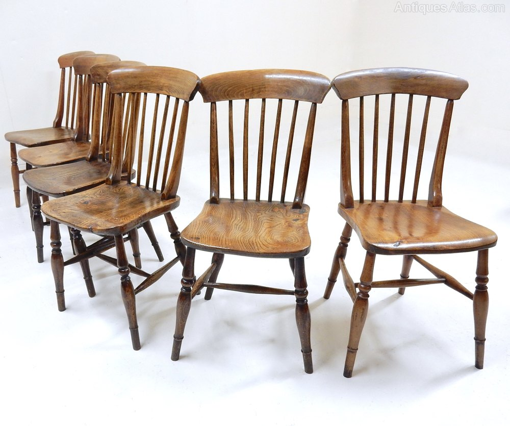 Antique Windsor Chairs Dining: 6 Windsor Kitchen Chairs