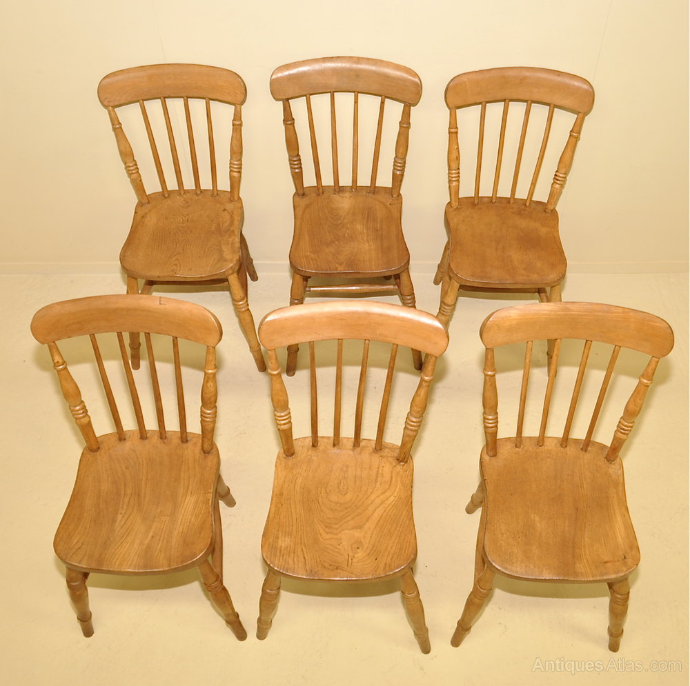 6 Windsor Kitchen Chairs Antiques Atlas