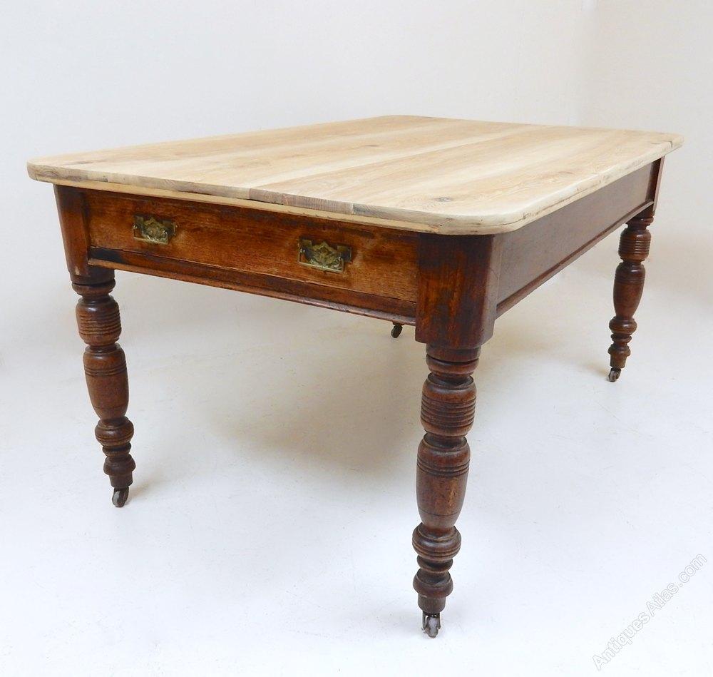 elm and oak kitchen table antiques atlas