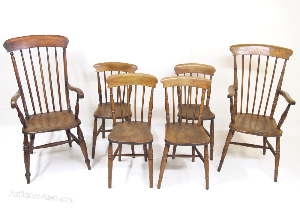 Harlequin Set Country Dining Chairs Antiques Atlas