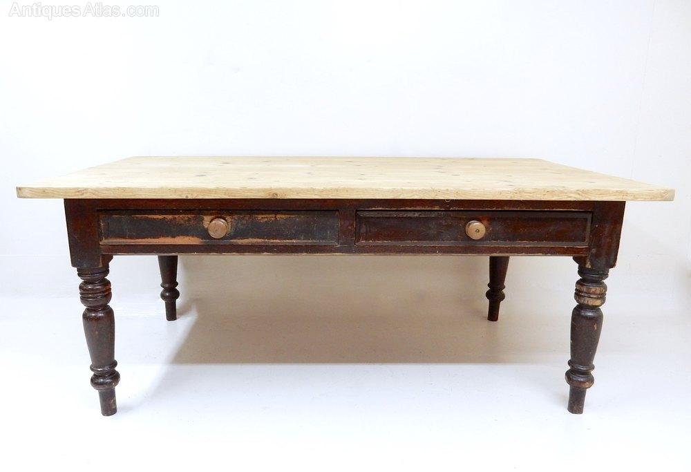 large pine kitchen table antiques atlas