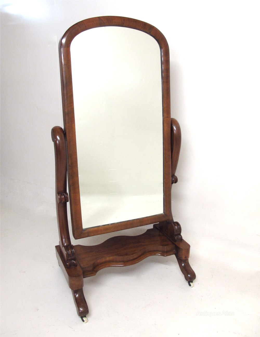 Antiques atlas mahogany cheval mirror for Cheval mirror