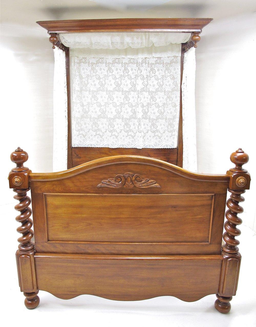 Mahogany Half Tester Bed