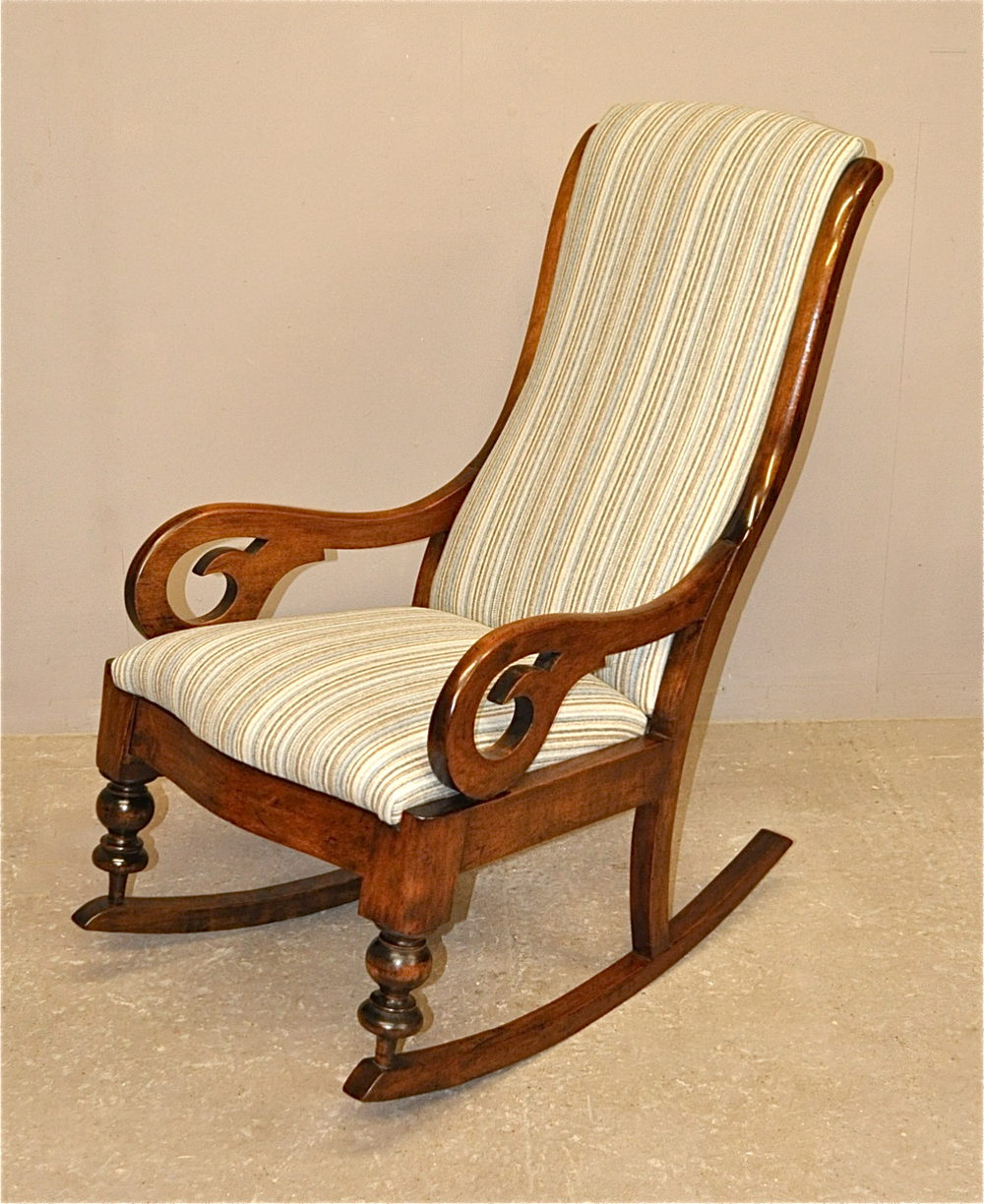 Mahogany Rocking Chair - Q3254 - Antiques Atlas