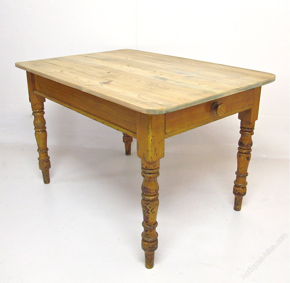 Pine Kitchen Dining Table Antiques Atlas