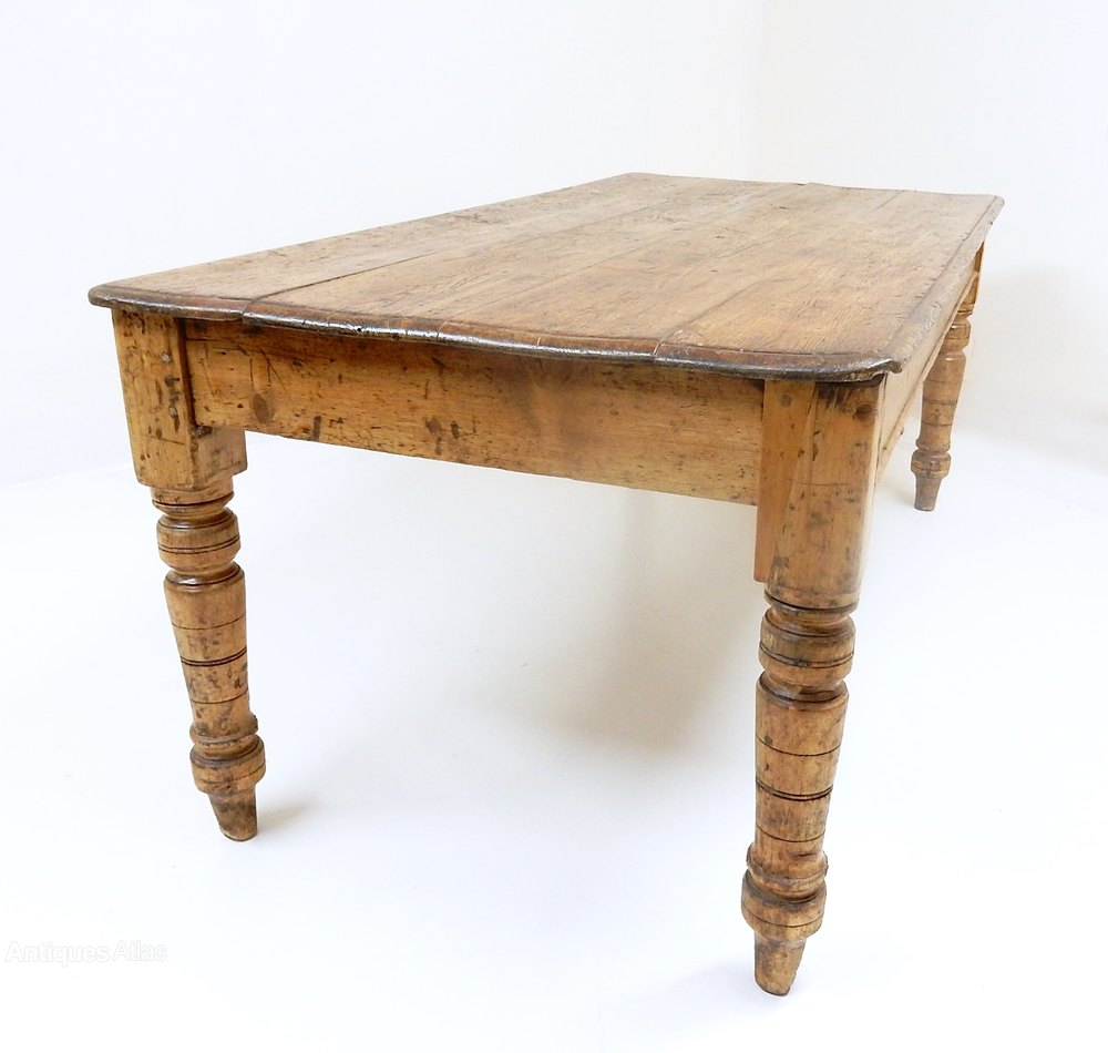 Pine kitchen table antiques atlas for Kitchen table