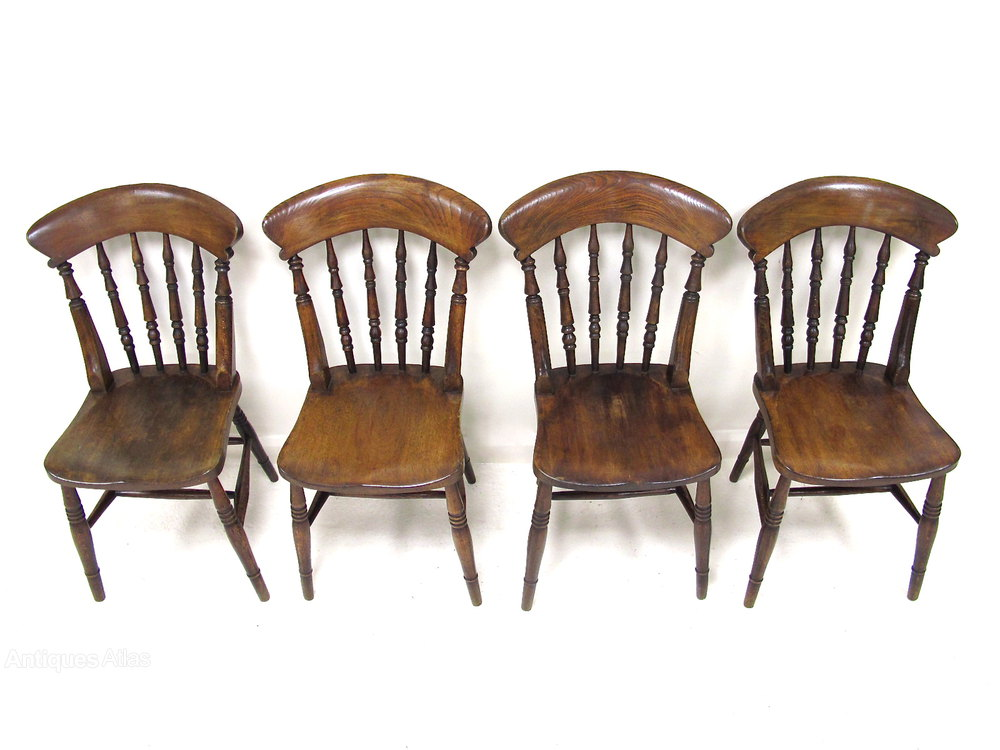 Set Of 4 Spindleback Kitchen Chairs Antiques Atlas