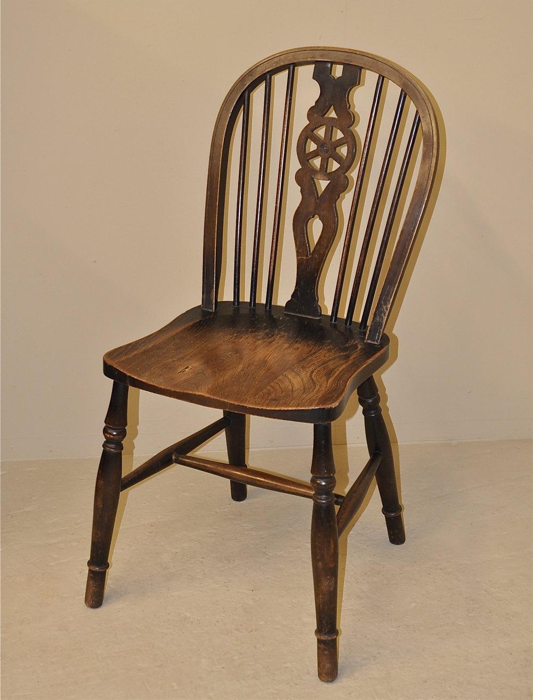 antiques atlas set of 4 wheelback chairs. Black Bedroom Furniture Sets. Home Design Ideas