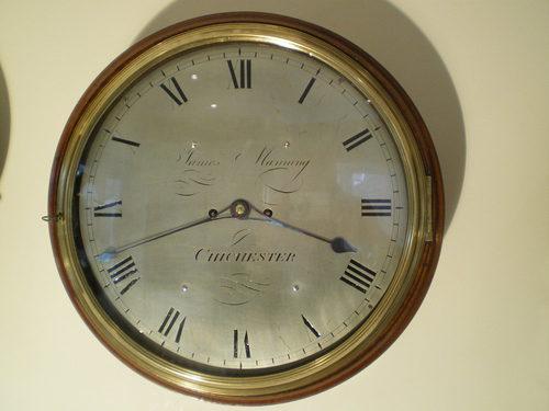 Silver Dial Wall Clock Antique ...