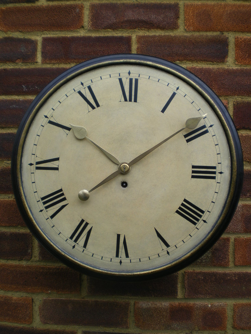 Antiques atlas wood dial fusee wall clock for Antique wall clock wood