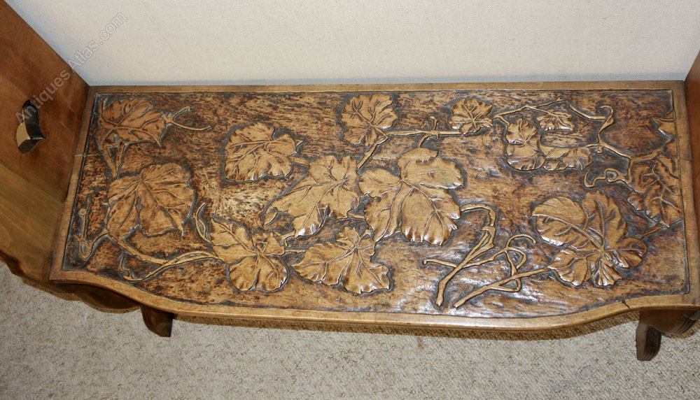 Carved walnut bench seat antiques atlas