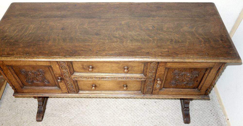 Distressed ipswich carved oak sideboard antiques atlas