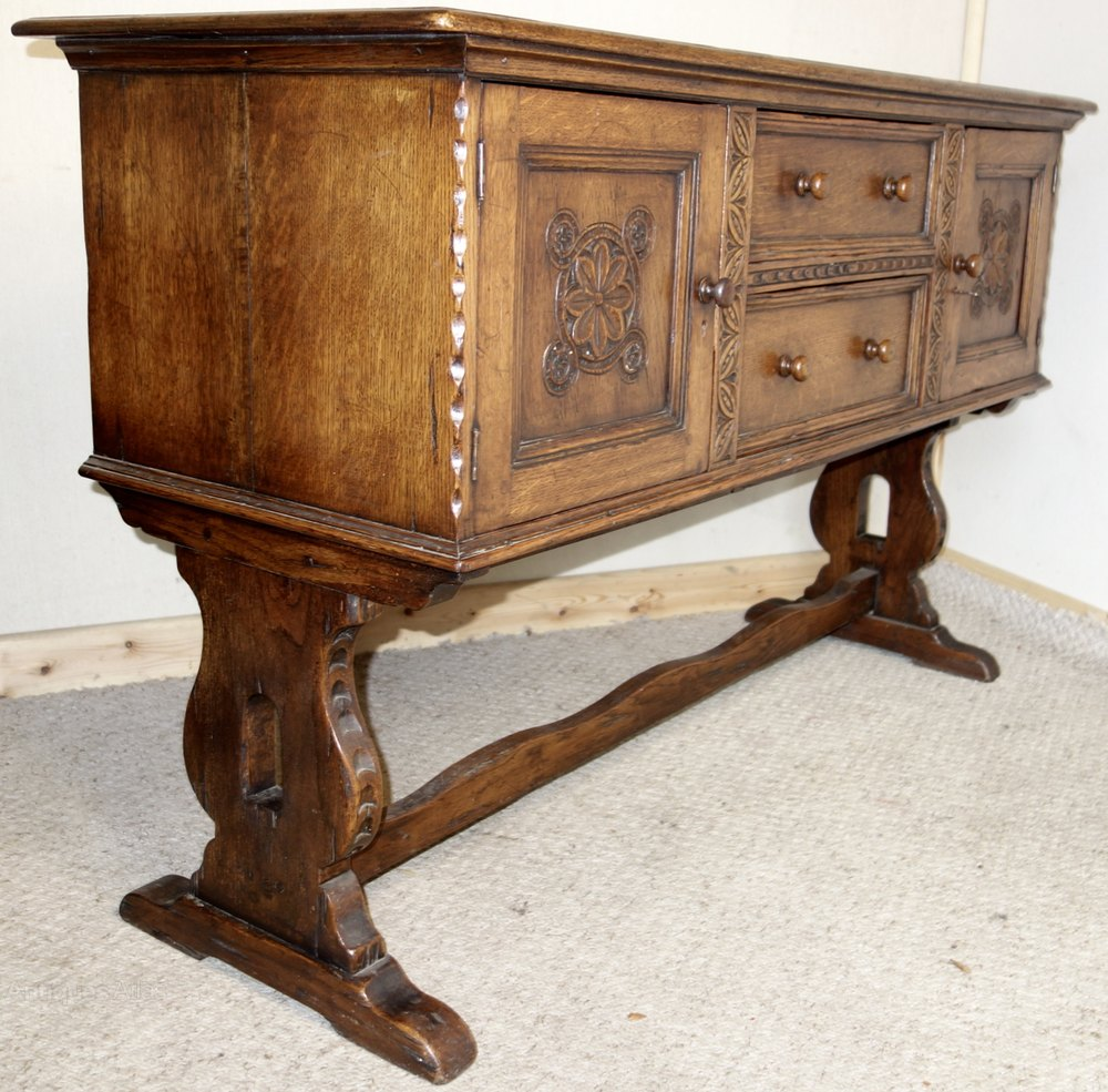 Distressed Ipswich Carved Oak Sideboard Antiques Atlas