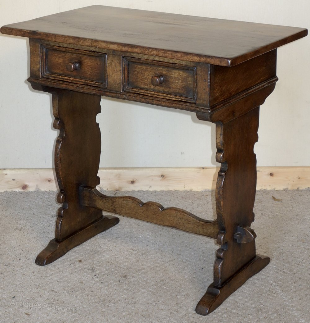 Foyer Table Distressed : Distressed ipswich oak hall table antiques atlas
