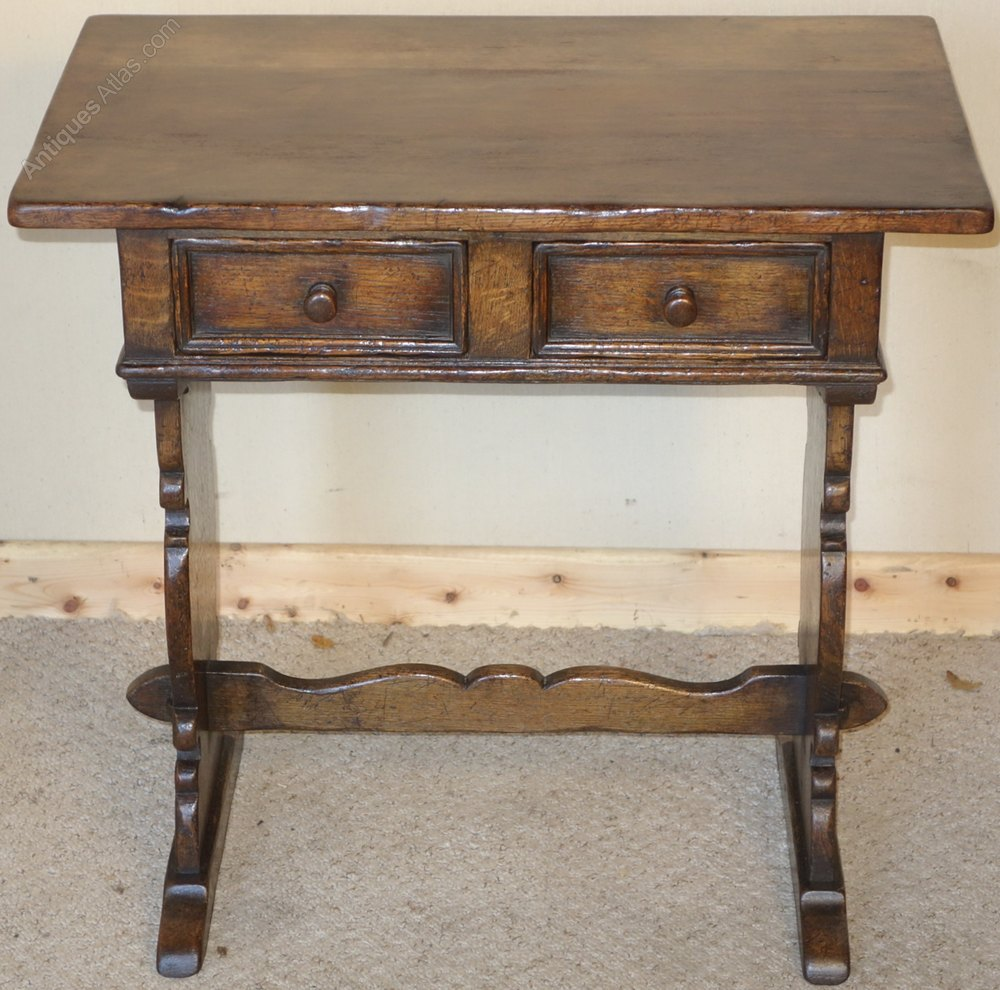 Oak Hall Table ~ Distressed ipswich oak hall table antiques atlas