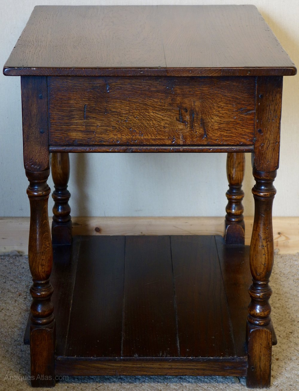 Antiques atlas distressed oak lamp table with drawer distressed oak lamp table with drawer vintage and retro side tables lamp side small alt5 geotapseo Choice Image