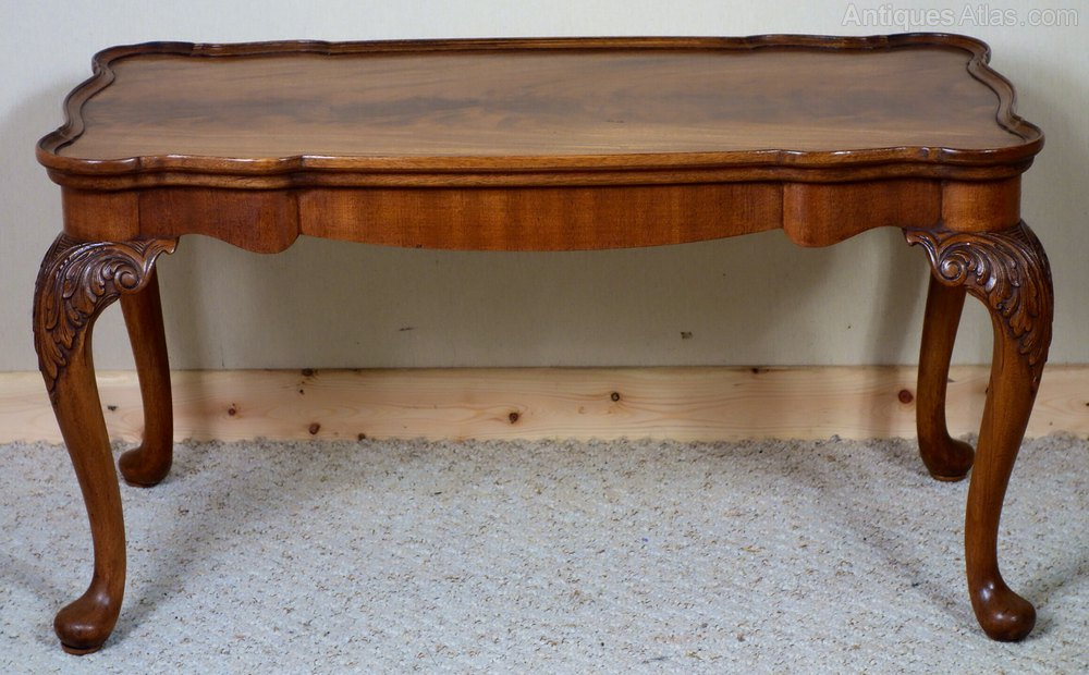 Figured mahogany coffee table with removable glass for Coffee table with removable glass top