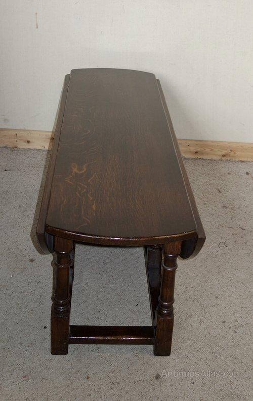 Antiques Atlas Large Drop Leaf Oval Oak Coffee Table