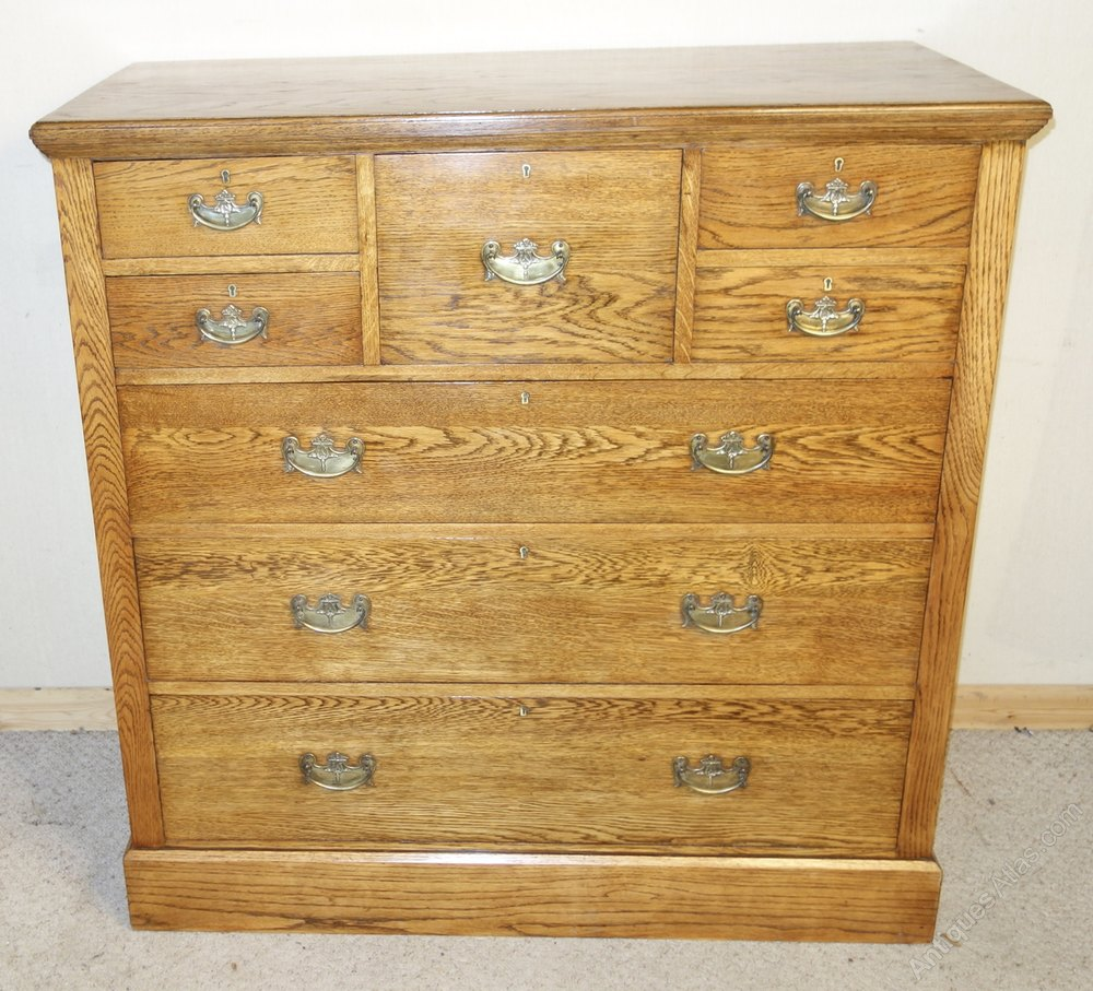 Large oak chest of drawers antiques atlas