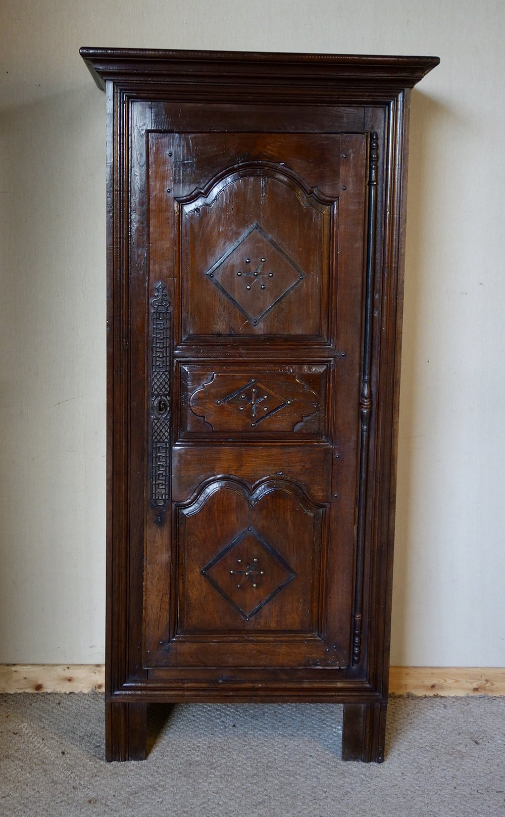 Narrow French Oak Amp Chestnut Armoire Wardrobe Antiques Atlas