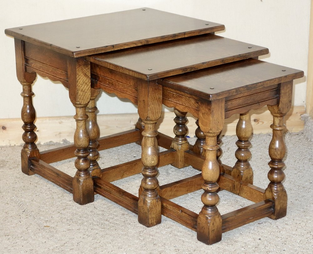 Antiques Atlas Nest Of Three Oak Coffee Tables