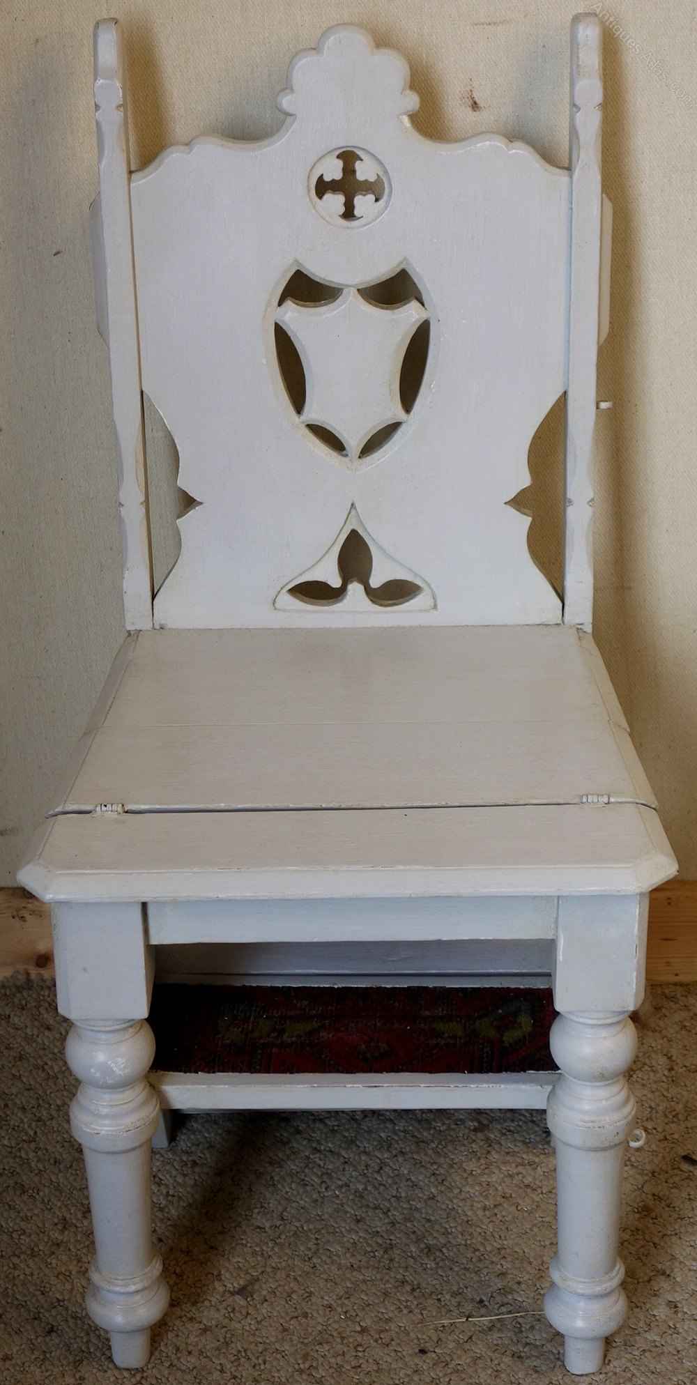 Painted Victorian Metamorphic Library Steps Chair