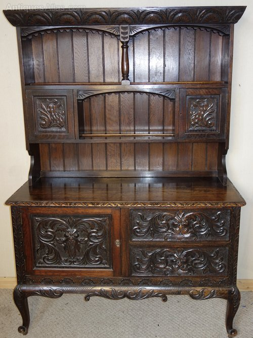 Victorian carved oak dresser antiques atlas