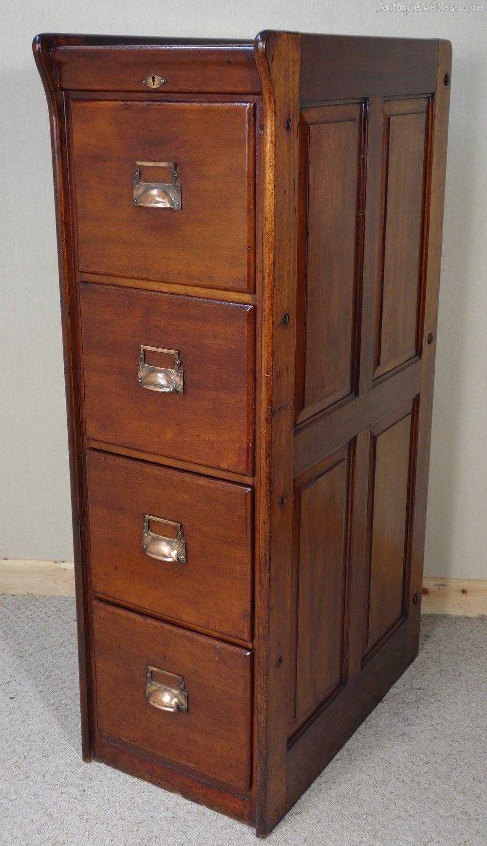 victorian mahogany filing cabinet - antiques atlas