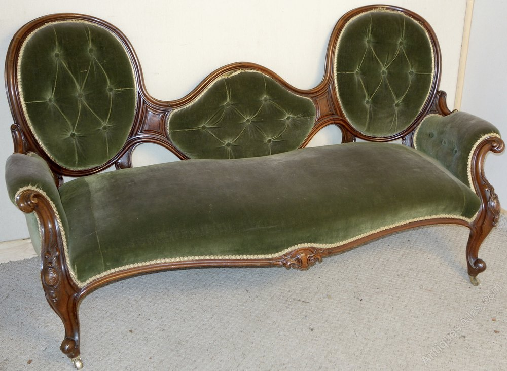 Victorian Rosewood Double Spoon Back Settee Antiques Atlas