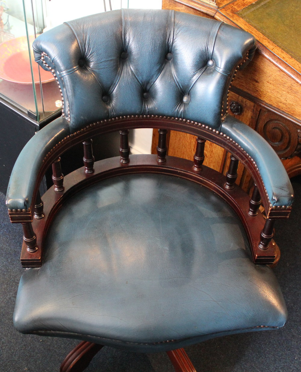 Antiques Atlas 1970 39 S Ble Leather Office Chair