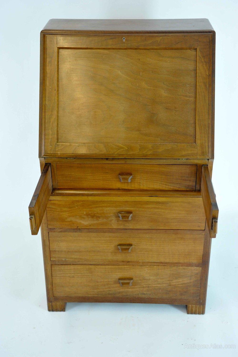 early art deco mahogany bureau by betty joel antiques atlas. Black Bedroom Furniture Sets. Home Design Ideas