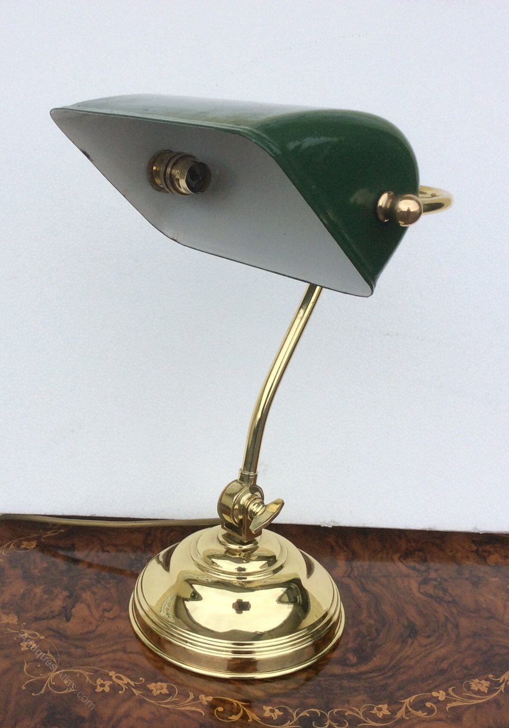 antiques atlas antique edwardian brass bankers desk lamp. Black Bedroom Furniture Sets. Home Design Ideas
