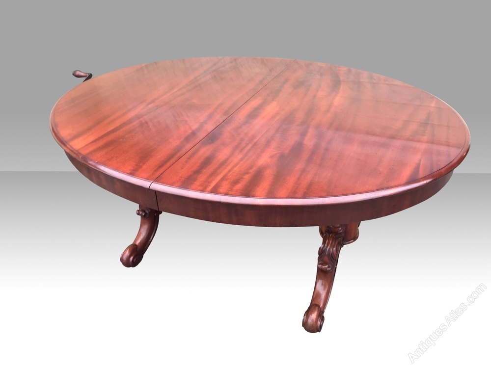 Antique Pedestal Extending Oval Dining Table Antiques Atlas