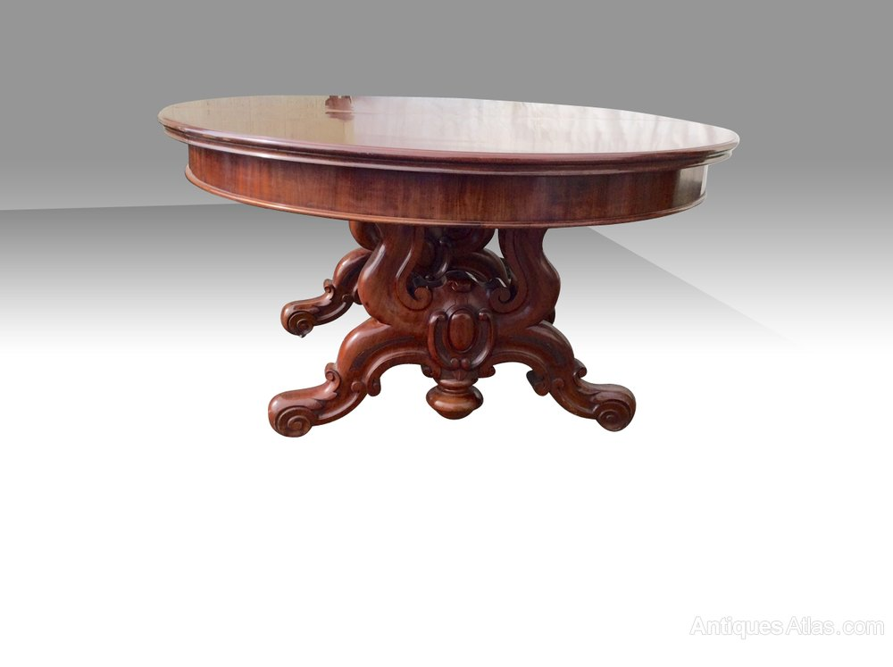 Large Three Leaf Antique Oval Dining Table Antiques Atlas