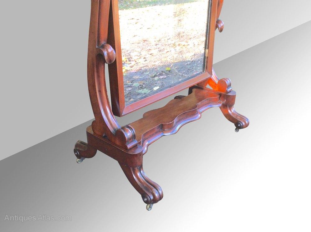 Antiques atlas quality antique mahogany cheval mirror for Mirror quality