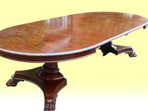 Quality Antique Circular Extending Dining Table Antiques Atlas