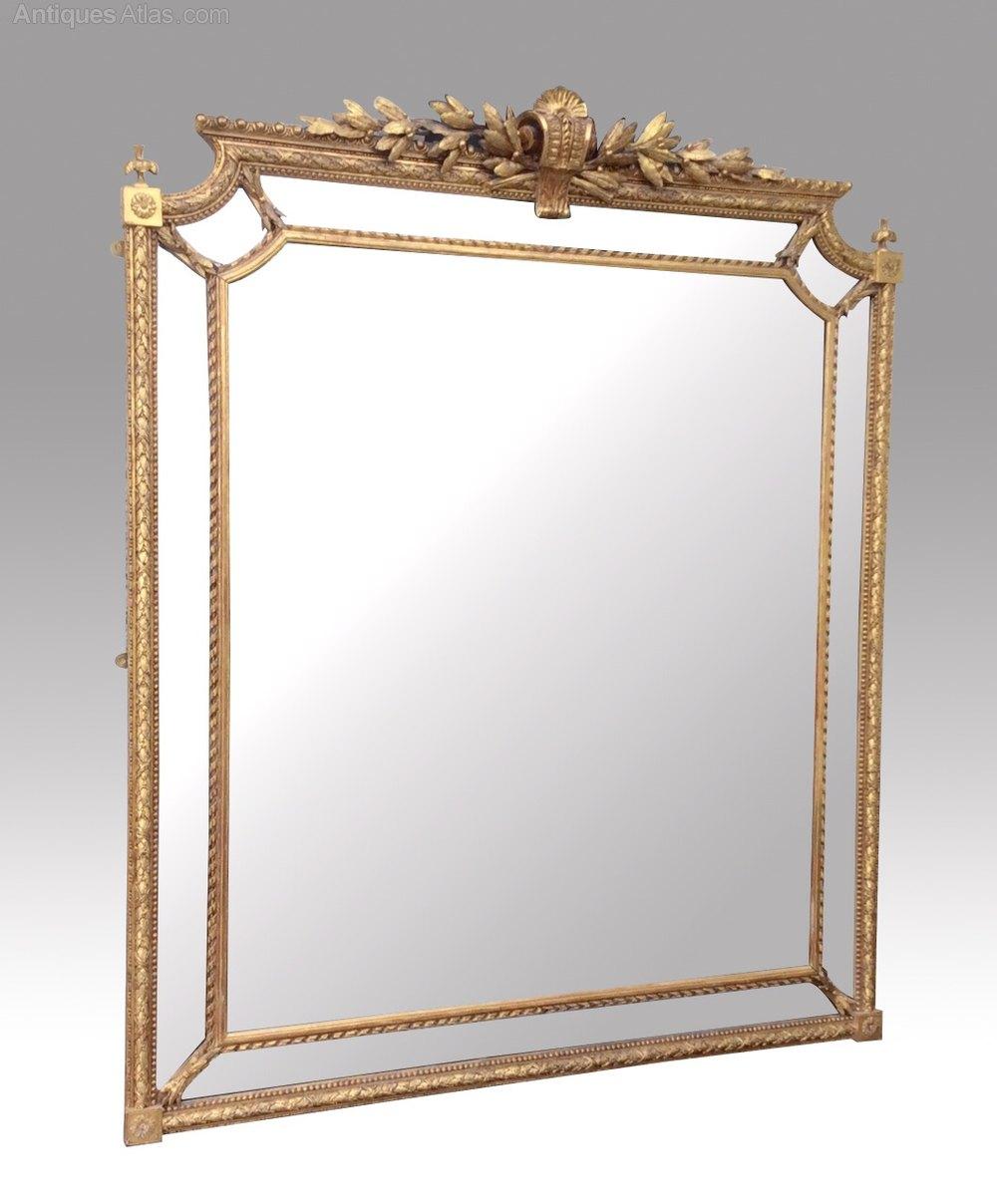 Antiques atlas superb antique gilt overmantle mirror for Overmantle mirror