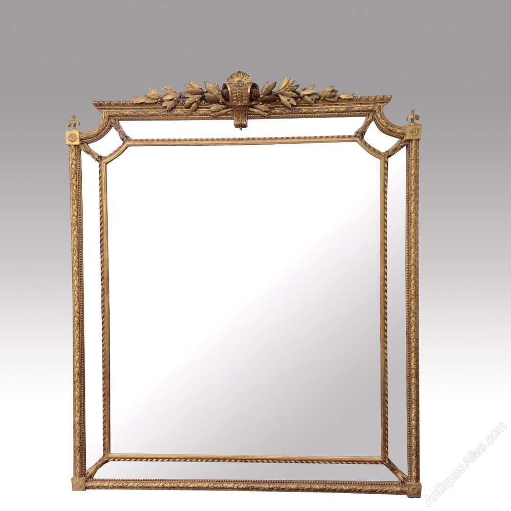Antiques atlas superb antique gilt overmantle mirror for Victorian mirror