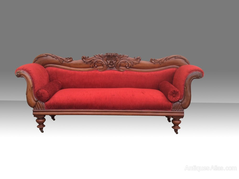 Superb Double End Antique Mahogany Couch Settee Antiques