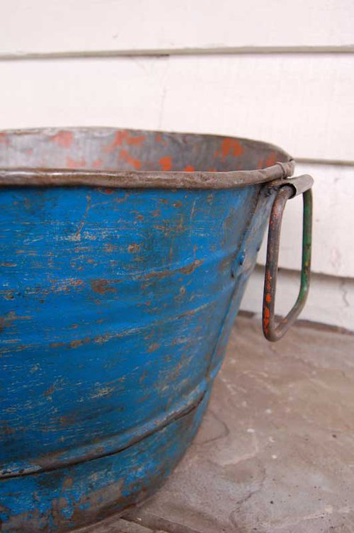 Antiques atlas a large indian metal tub for Large metal tub for gardening