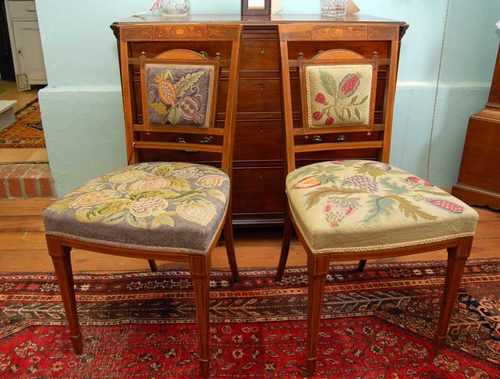 A Pair Of Edwardian Rosewood Bedroom Chairs Antiques Atlas